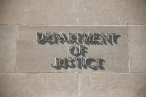 U.S. Department of Justice building in Washington D.C.
